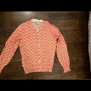 Orange patterned cardigan
